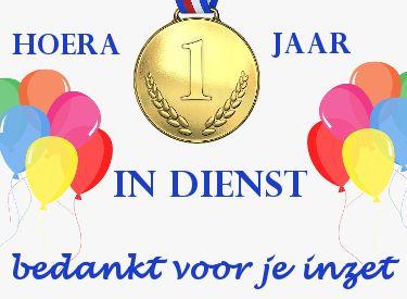 Felicitatie 1 Jaar