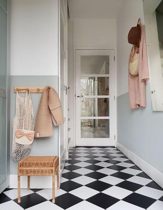 Un Carrelage En Damier Pour Une Deco Au Carre Maison Simple