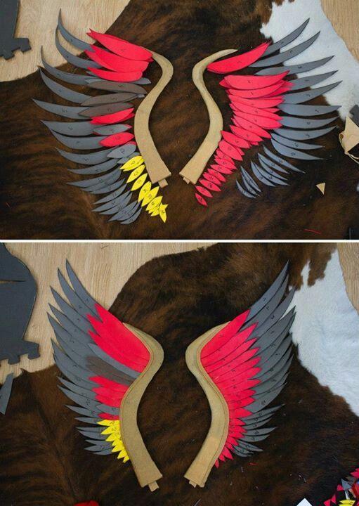Craft foam Wings in construction