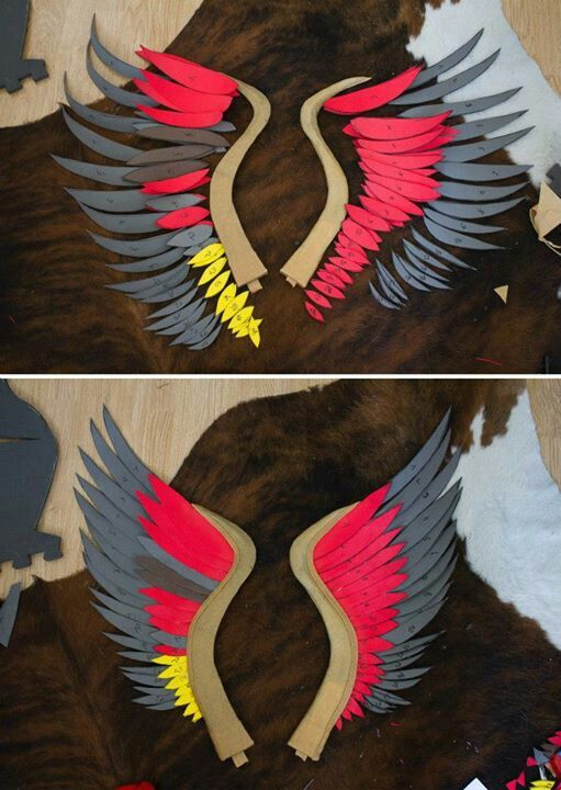 Book Cover Craft Bra : Craft foam wings in construction cosplay costuming and
