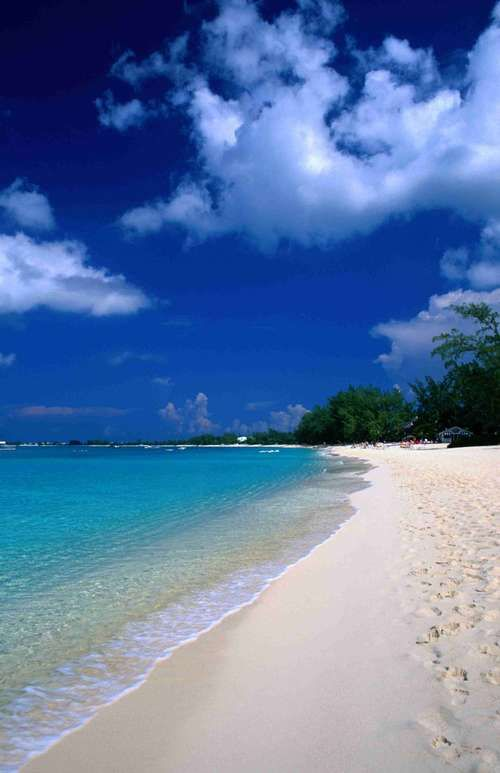 Seven Mile Beach, Grand Caymen. Amazing beach. I love being able to see the bottom of the ocean while swimming!