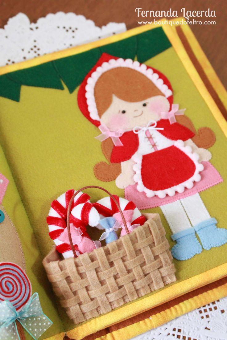 Quiet Book em Feltro, tema: Era uma vez Fernanda Lacerda   www.boutiquedofeltro.com