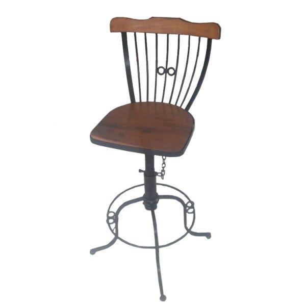 BQ06 banqueta cadeira rústica  madeira Peroba Rosa cadeira ferro e madeira…