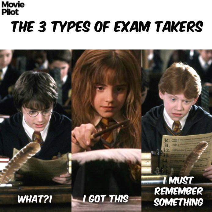 I'm Ron for sure. <<< I go through all three, at first I'm Harry, then I calm myself down and read through the questions and then I'm Ron, and then I look at the answers and tell myself I can do it and all of a sudden poof Hermione hi how are ya