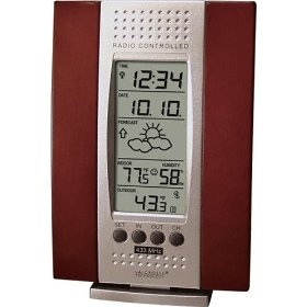 La Crosse Technology WS-7014CH-IT Indoor & Outdoor Digital Thermometer w/ Indoor Humidity, Forecaster, Atomic Clock $33.45