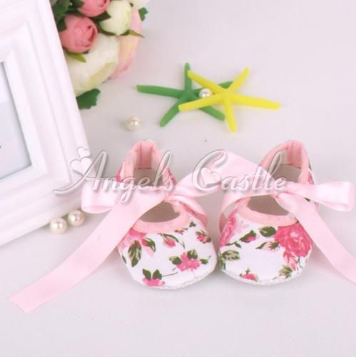 Newborn-Infant-Baby-Girl-Crib-Shoes-First-Walkers-Trainers-Prewalkers-SZ-0-12M
