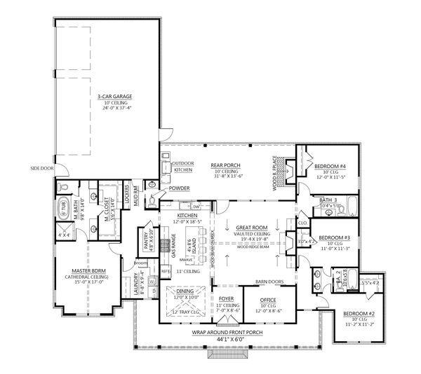 Farmhouse Style House Plan 4 Beds 3 5 Baths 2400 Sq Ft Plan 1074 24 In 2020 House Plans Farmhouse Farmhouse Style House Farmhouse Plans