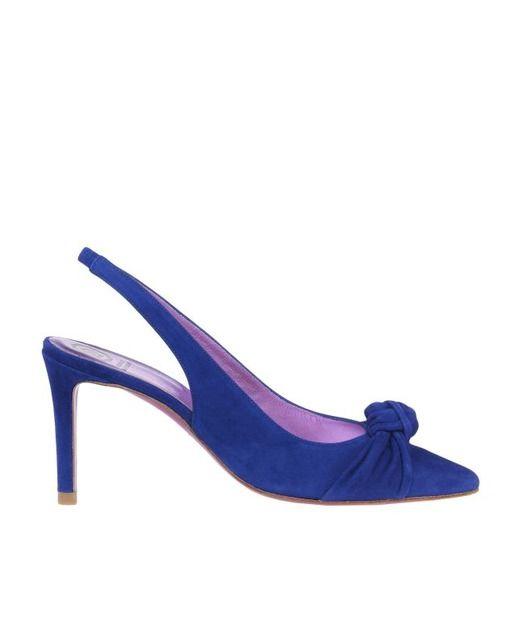 Zapatos de salón de mujer Ursula Mascaró en ante azul