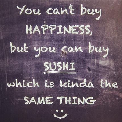 when i was a kid, Mcdonalds was my comfort food.  The last few years it's sushi.  Here is to past, present and future sushi commas.