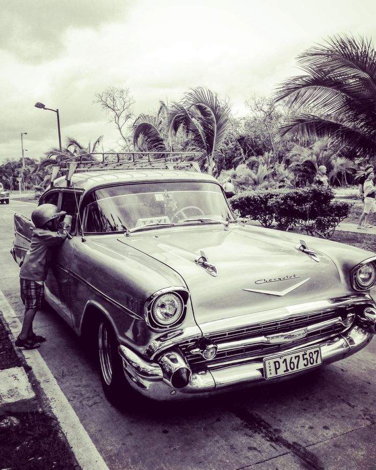 Cayo Coco, Cuba ❤️ My son looking in a typical Cuban car