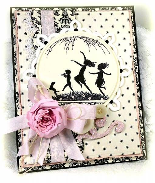 Vintage Silhouetts by Linda D - Cards and Paper Crafts at Splitcoaststampers