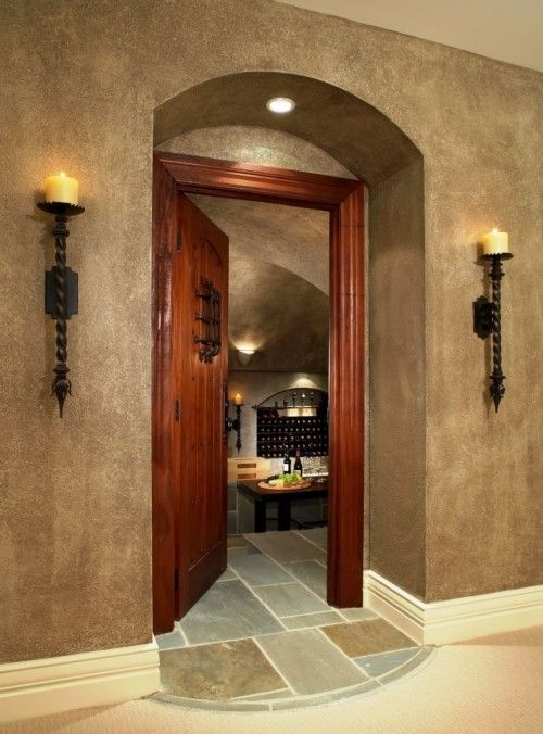 Sconces. Paint technique - love love love this- it looks so elegant!