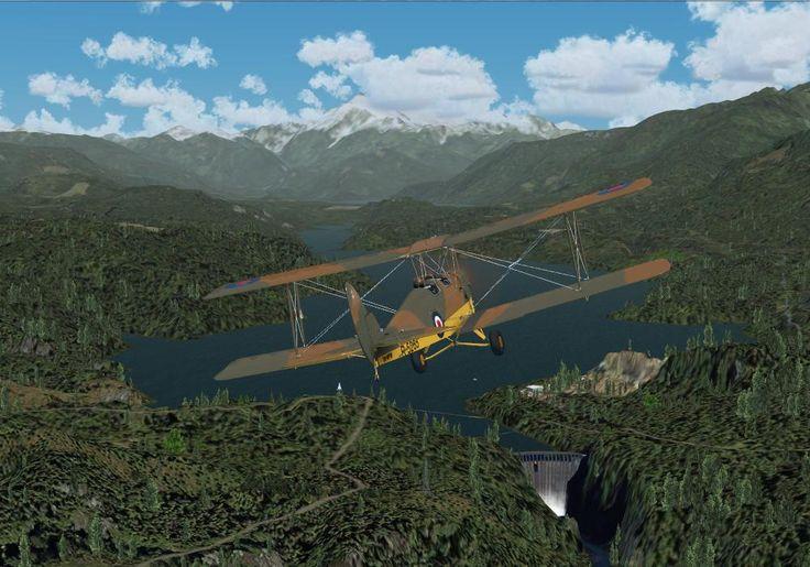 Un magnifique Tigermoth gratuit pour Flight Simulator X sur www.antsaiplane.com