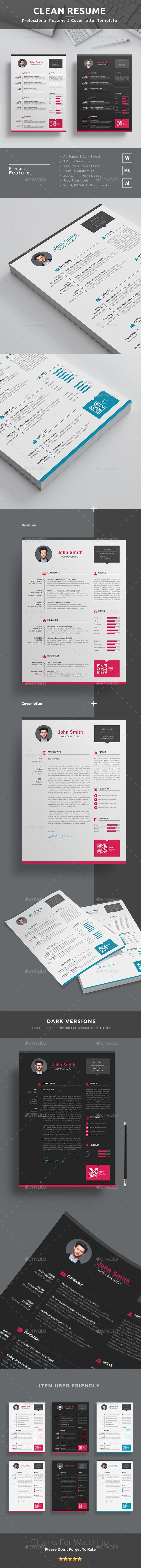 Best ResumeCV Design Template Free Cover