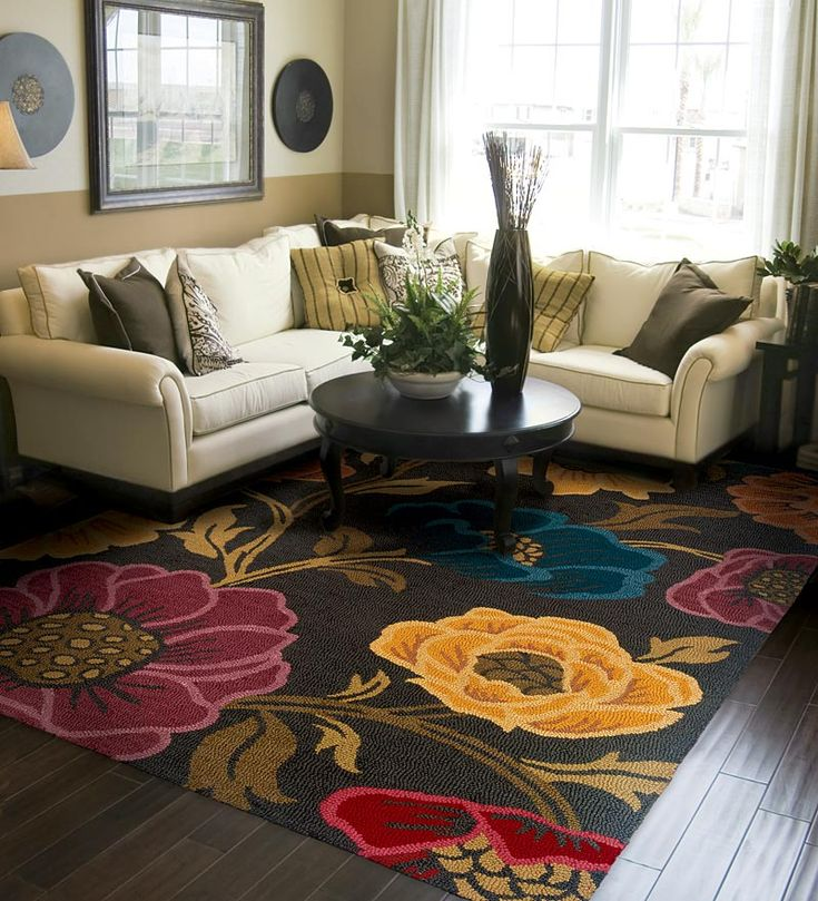 Eden Chocolate Floral Hand-Tufted Wool Area Rug