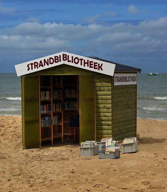 Beach library, Belgium