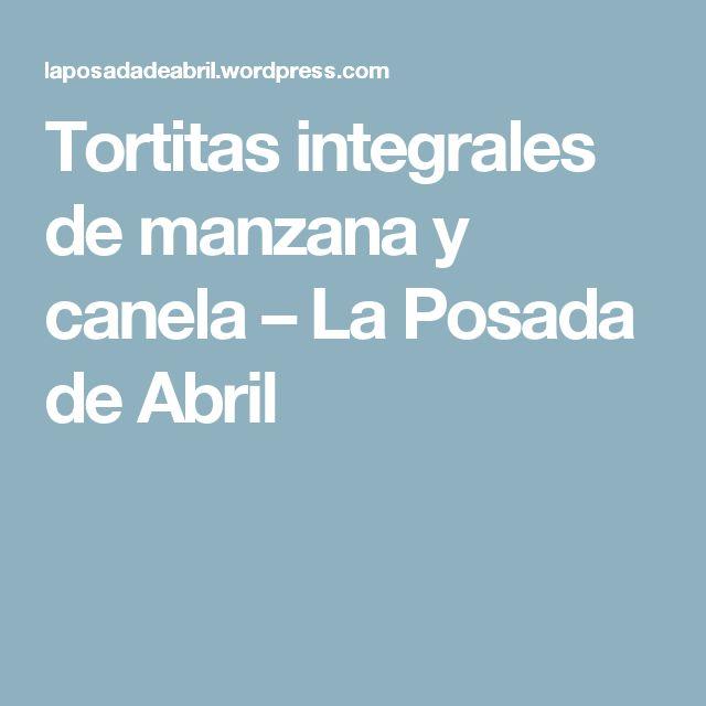 Tortitas integrales de manzana y canela – La Posada de Abril