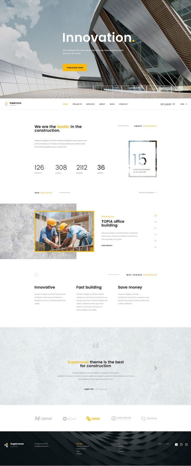 Are These The Best Contractor Website Designs For 2018 Beam Local Webdesign2018inspiration Corporate Website Design Modern Website Design Web Layout Design