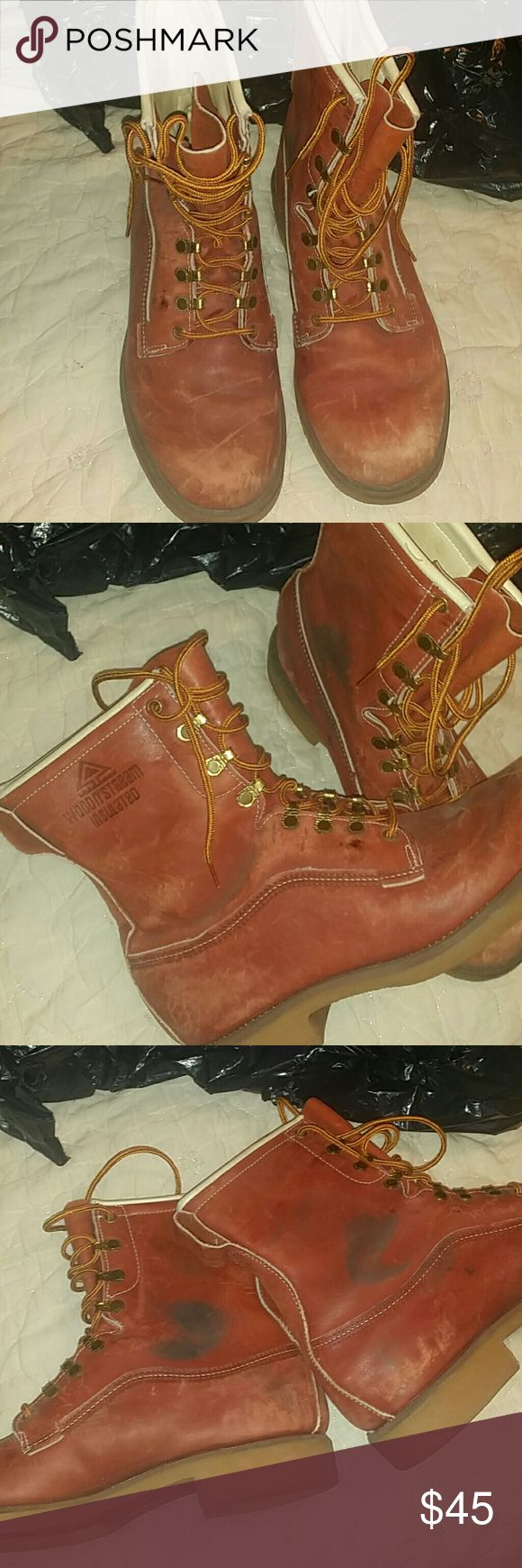 Woodn'stream insulated boots In excellent used condition these worn maybe 3 times inside as you can see soles are clean the only wear is on the inside of the sides like shown win pic  #3 Shoes Boots