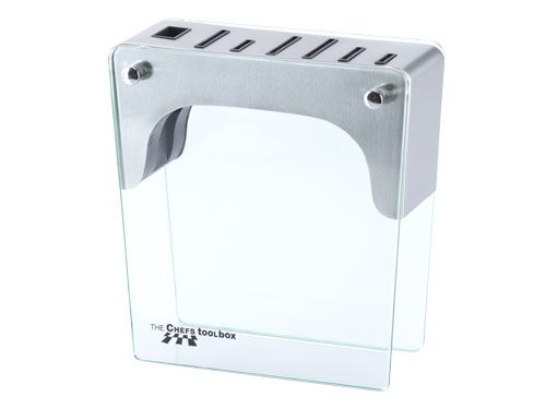 Knife Block ONLY - Stainless Steel AUD$89.00 Manufactured from quality poly-coated timber, it provides compact storage for all your Chefs Toolbox knives. Now with Stainless Steel top.