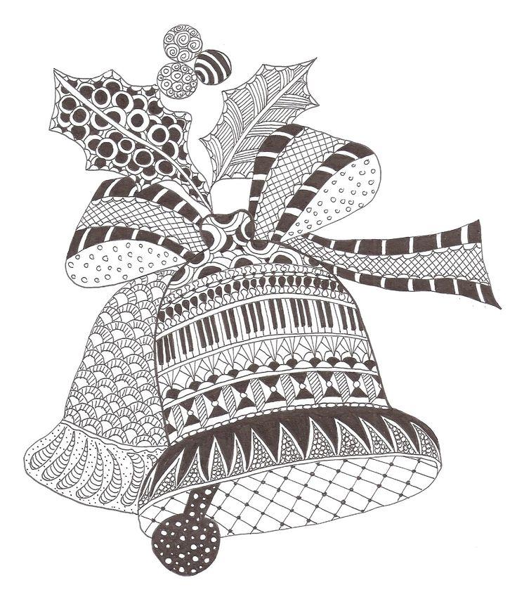 Zentangle+made+by+Mariska+den+Boer+166+#Zentangle+#Christmas+#Zentangle+Patterns
