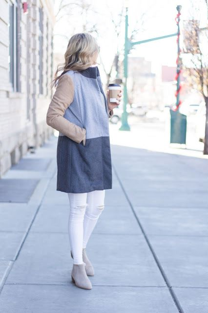 Colorblock Coat - Love this outfit!