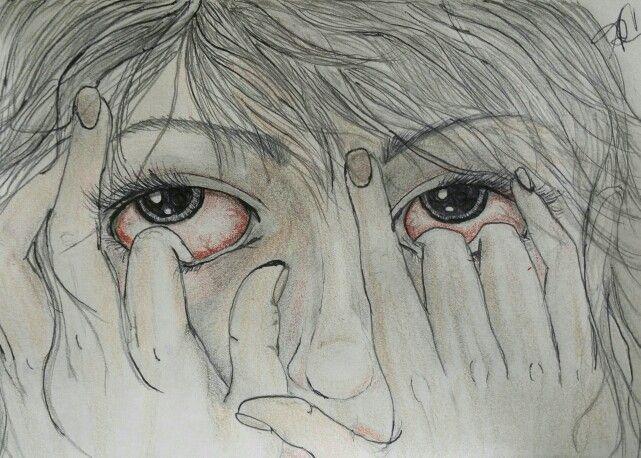 Lyric challenge sketch Slipknot- Duality  Push my fingers into my eyes