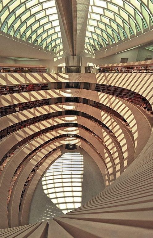 Zurich's Law Library, designed by Spanish architect Santiago Calatrava [645x1000] : ArchitecturePorn