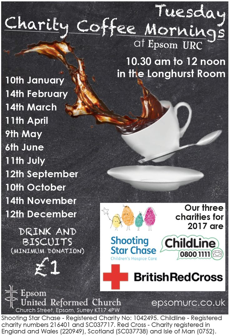 Come and support our three charities for 2017: Shooting Star Chase – Registered Charity No: 1042495 Childline – Registered charity numbers 216401 and SC037717 Red Cross – Charity registered in England and Wales (220949), Scotland (SC037738) and Isle of Man (0752)