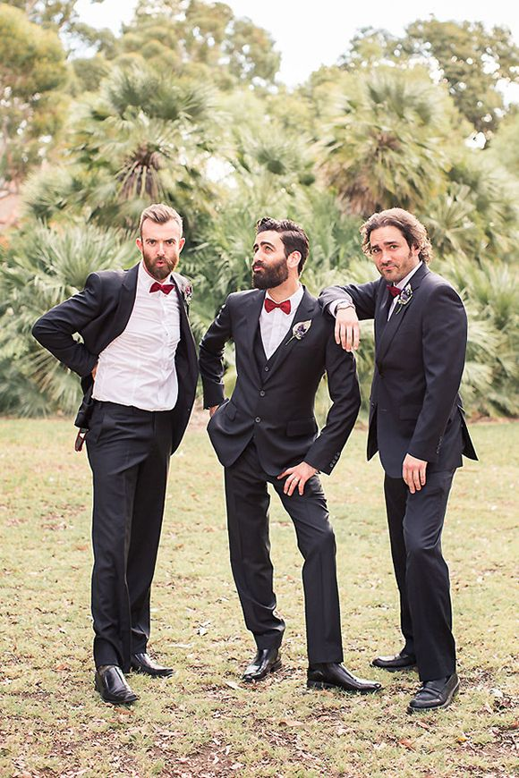 LOL, the groom and his mates hamming it up for the camera
