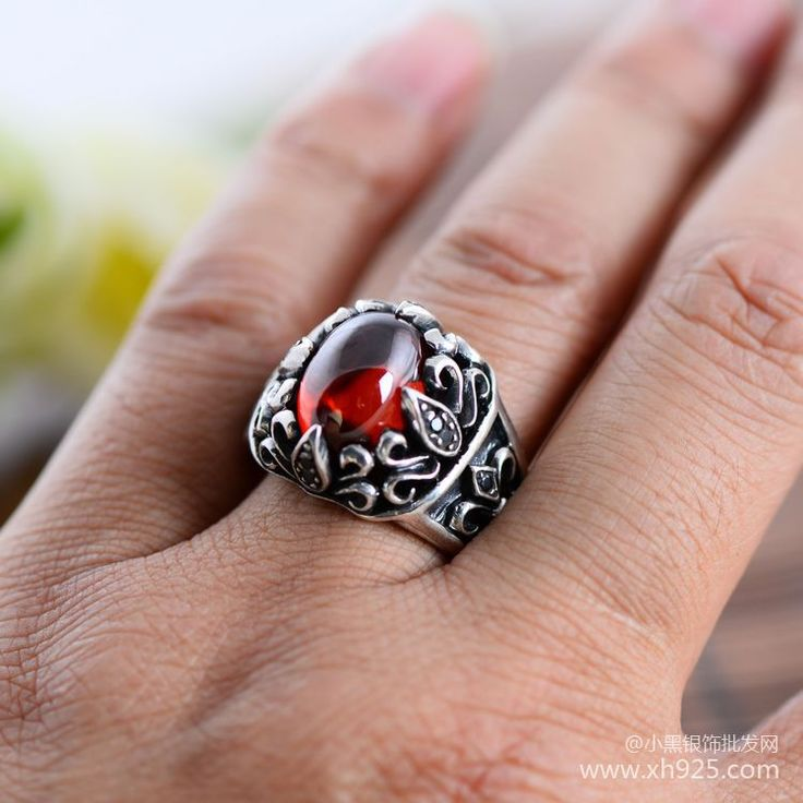 ==> [Free Shipping] Buy Best Black silver jewelry wholesale 925 sterling silver jewelry Sirius eyes Mens Black Onyx Ring 043891w Online with LOWEST Price | 32263429071
