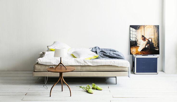 Transformation: sofa is a bed now. Photo Tuomas Kolehmainen.