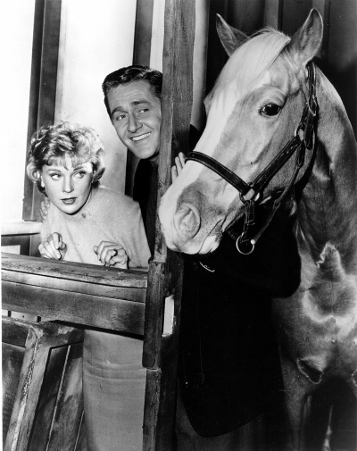 While he wasn't a movie star, Bamboo Harvester is probably the most famous horse on film as TV's Mr. Ed. His maternal grandsire was the chestnut stallion Antez, a Davenport Arabian who traveled to Poland in 1935 and returned to the U.S. a few years later to be used as a sire of palominos.