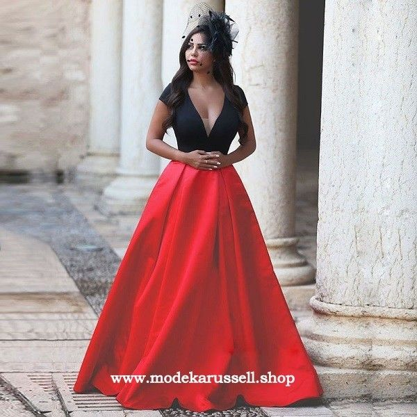 V Ausschnitt Abendkleid Rhoda Online