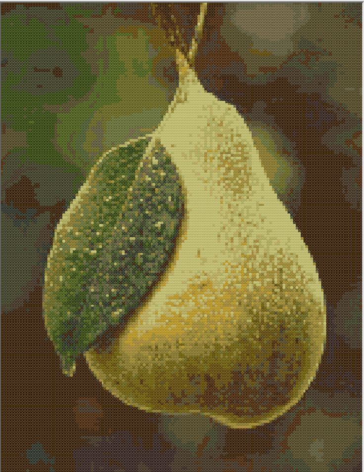 FREE CROSS STITCH PATTERN : Pear  in PDF for instant download