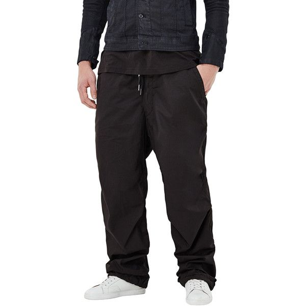 G-Star Men's Vodan Parachute Tapered Pants - Size 29x32 ($135) ❤ liked on Polyvore featuring men's fashion, men's clothing, men's pants, men's casual pants, no color, mens stretch waist pants, mens tapered pants, mens elastic waistband pants, mens elastic waist pants and mens cotton pants