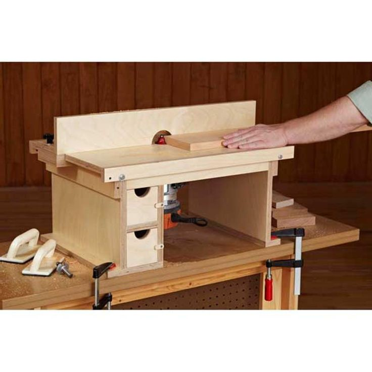Flip Top Benchtop Router Table Woodworking Plan From Wood Magazine Oficina Pinterest Shop
