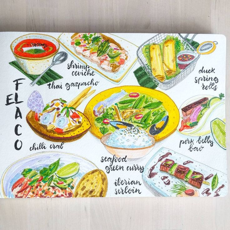 This Friday we visited @elflacomadrid, a Thai  inspired restaurant with a nice tasting menu. I've been there twice so not a lot of surprises, still loving their green curry. . . . #foodlog #fooddiary #fooddrawing #foodillustration #foodsketch #sketch_daily #sketchbook #fabercastell #moleskine #moleskinichi #foodart #instafood #illustration #sketch #urbansketchers #theydrawandcook #picame #moleskine_arts #sketchaday #ink #inkdrawing #gastrosketch #thai #madrid #restaurant