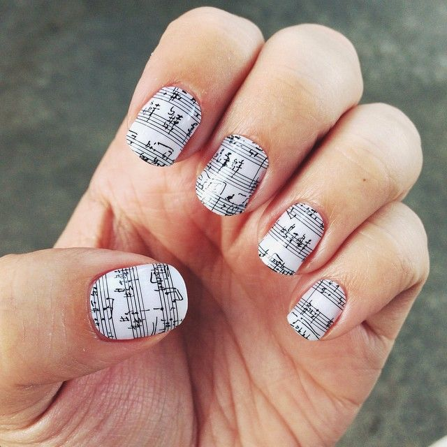 16 best Noteworthy Nails images on Pinterest | Music nails, Music ...