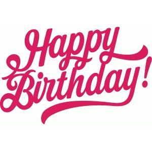 Silhouette Design Store - View Design #61151: happy birthday slanted