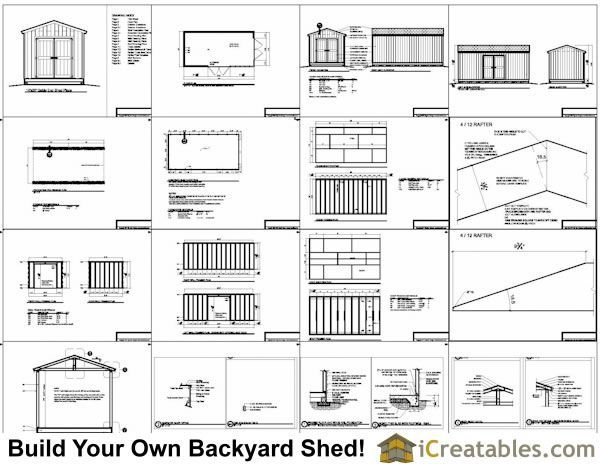 10x20 Backyard Shed Plans 12x8shedplans Shed Plans Shed Building Plans Shed Floor Plans