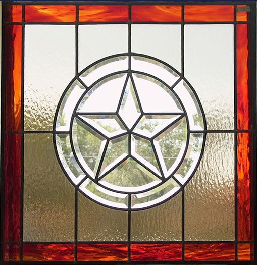 Unique stained glass patterns windows clear leaded for Five star windows