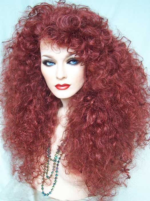 Drag Sexy Red Curly Cher Wig. http://www.dragwigs.com ...
