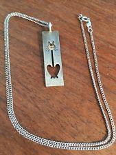 Kupittaan Kulta Pendant Necklace Sterling Cat Gold Face Modernist Finland