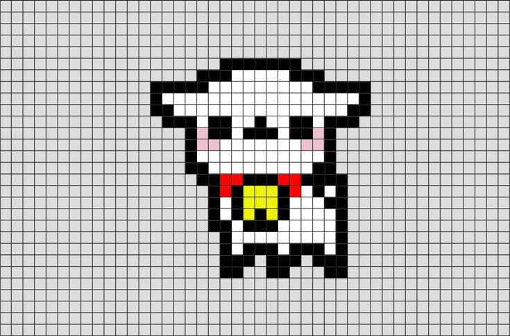 Alpaca Pixel Art from BrikBook.com #Alpaca #animal #llama #pixel #pixelart #8bit  Shop more designs at http://www.brikbook.com