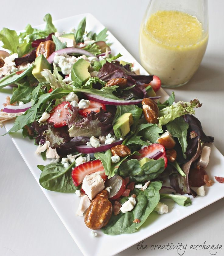 Napa Salad with Honey Mustard Vinaigrette from The Creativity Exchange