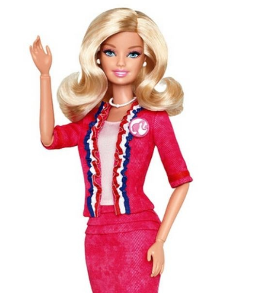 """Barbie: """"I Can Be President"""" Doll - if girlfriend doesn't count as a super hero, I don't know who does!"""