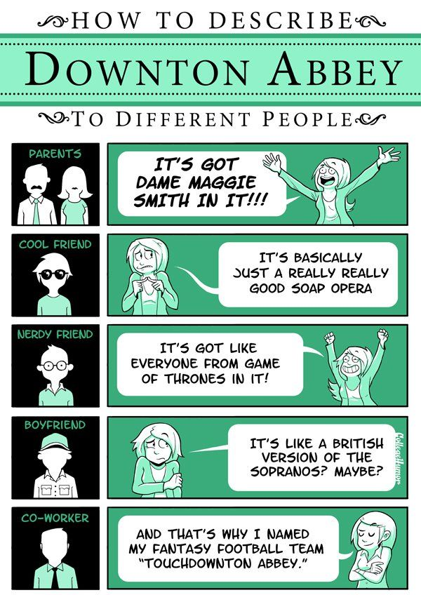 Downton Abbey - How to Explain a TV Show to Different People