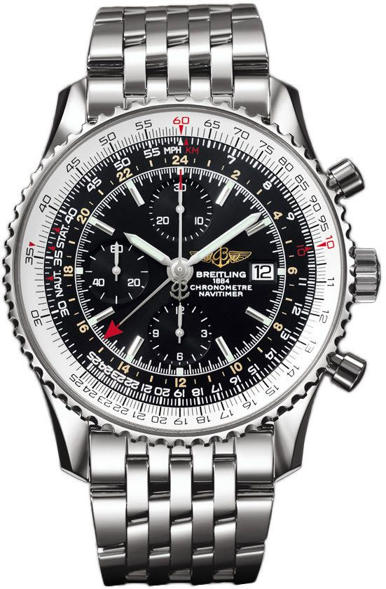 @breitling Watch Navitimer World #bezel-bidirectional #bracelet-strap-steel…