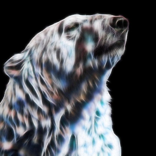 Polar bear fractal by Tracey Lee Art Designs